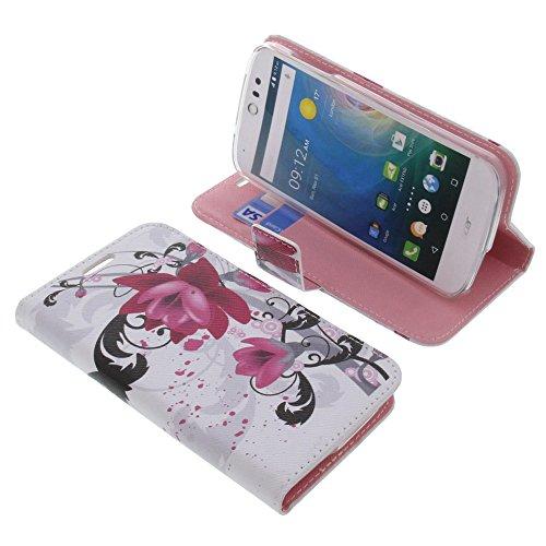 foto-kontor Tasche für Acer Liquid Z530 Liquid M530 Book Style Lotus Blüte Schutz Hülle Buch