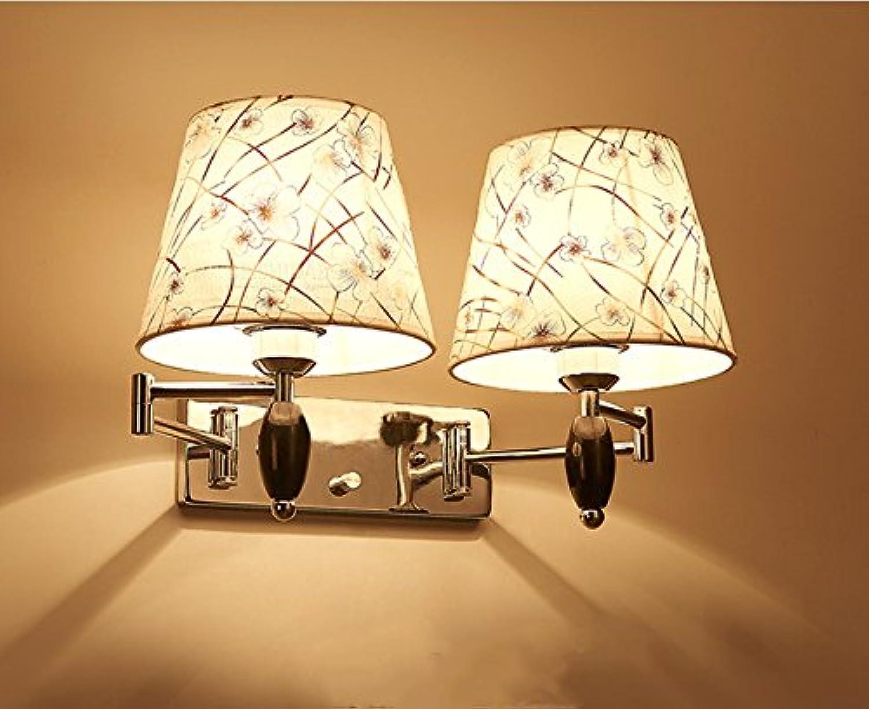 HEYUN& Schlafzimmer Nachttischlampe Dimmer Wippe geführt Wohnzimmer Wandleuchten Wand ( Farbe   Doppelkopf )