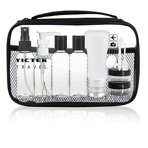 Travel Bottles Containers,Travel Size Toiletries TSA Approved Travel Accessories Tubes Kit with Clear Quart Toiletry Bag for Liquids, Carry-On Luggage Set for Women/Men
