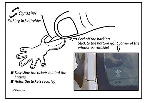 Ticket Hand pack of 2 Windshield Muni-meter Parking Ticket Holder Clips DMV Clip