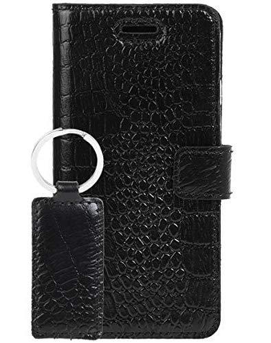 SURAZO - Funda tipo libro para Samsung Galaxy A9 (2018) - RFID - Premium hecha a mano en la UE - Funda tipo cartera de piel de grano superior - Llavero de piel gratis - Cayme Black