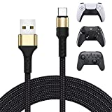 USB C Charging Cable for PS5 Xbox Series Controller, Type C Fast Charge Cord for Playstation 5, Xbox Series S/X, Nintendo Switch Pro Controller & Nintendo Switch Console & Smartphone, 10FT Long