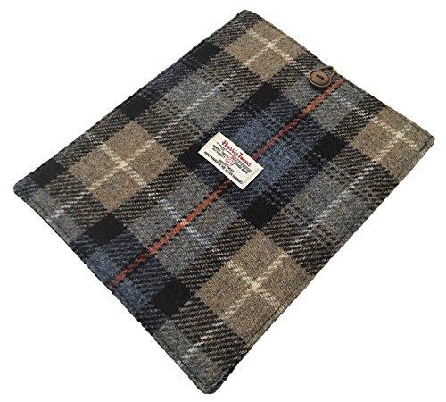 Harris Tweed Schutzhülle für iPad / Tablet, Schottenkaro, gepolsterte Halterung