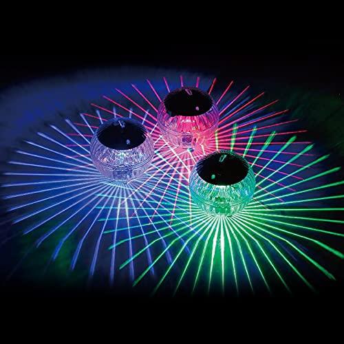 2 Stück Solar Schwimmendes Licht , Farbwechsel Magic Ball Solar Teich Licht,Teichbeleuchtung Pool dekorative Lichter Solar Pool Licht(Buntes Licht)