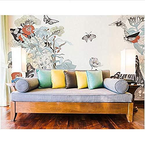 Fotomurales Decorativos Pared Vinilos Decorativos Papel Fotografico 3D Japón Estilo Papel Mural Grande Mariposa Pared Foto Murales Papel Tapiz Para La Sala De Cama Sofá Fondo Pared Mural