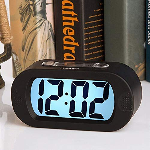 GAL LED De Visualización Electrónica Reloj Reloj - Gran Pantalla De Grandes Cantidades En Caso De Silicona con Reloj Digital Negrita, A Batería, Negro 13,6 * 6,8 * 4,8 Cm