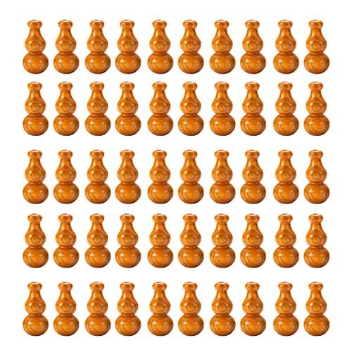 Doitool 50 Cuentas de Madera Cuentas Espaciadoras de Calabaza de Madera Cuentas Vintage Abalorios Bola para Manualidades Puerta Cortina Pendientes Pulseras Collar Fabricación de Joyas