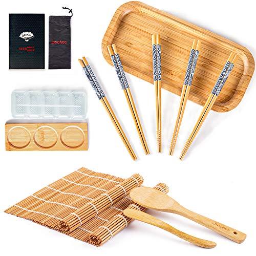 Bochee Kit Sushi 14 Pcs, Kit de Préparation de Sushi...