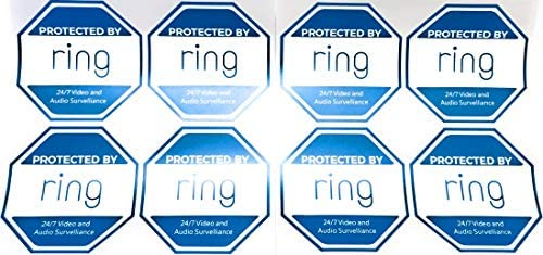 8 Ring Doorbell Security Sticker Decals Double Sided product image