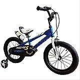 N&I Bicicleta de 12/14/16/18 pulgadas Freestyle Steel Frame Kids Bike Show 3-16 Year Old Baby Bike with Stabilizer Kettle And Bracket Green 16 inch