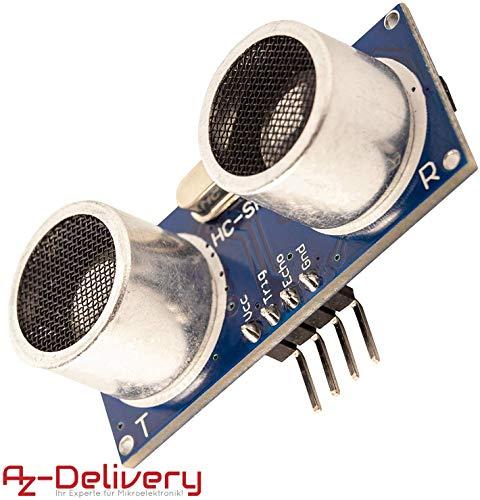 AZDelivery HC-SR04 Ultraschall Modul Entfernungsmesser Sensor für Raspberry Pi und Arduino mit gratis eBook!