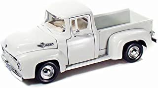 Motor Max 1956 Ford F-100 Pick Up, White 73235AC - 1/24 Scale Diecast Model Toy Car