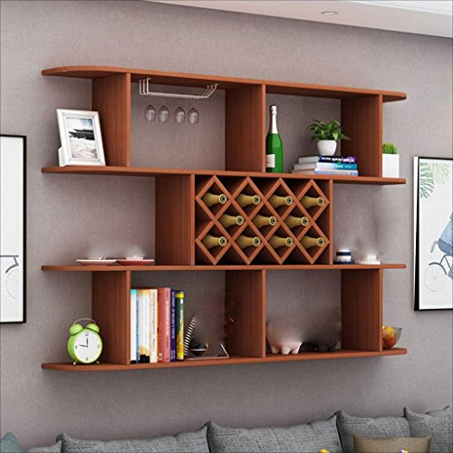 Lowest Prices! Betty Modern Restaurant Wine Rack Wine Cabinet Solid Wood Partition Free Punch Wall H...