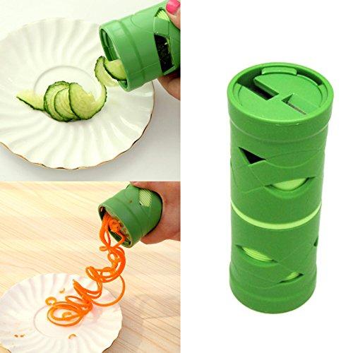 lzn Zwei seiten Hand-Spiralschneider, Zucchini Spargelschäler, Gurkenschneider, Gurkenschäler für Gemüsespaghetti kartoffel Möhrenreibe Möhrenschäler, Gemüsehobel