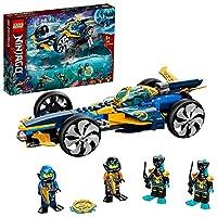 Das LEGO NINJAGO Set enthält 2-in-1-Fahrzeuge für Kinder, die entweder ein Spielzeugauto oder ein U-Boot für pausenlose Wasserabenteuer sein können Das U-Boot Spielzeug hat eine abnehmbare Drohne, ein zu öffnendes Cockpit, um die Minifiguren zu platz...