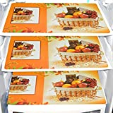 Color: Multi, Size Name: Standard Material: PVC Mat Package Contents: 6 Refrigerator Drawer Mats Or Dining Table Mat Size: 18 inch x 12 inch or 48 cm x 33 cm Porchex refrigerator drawer mats are made of PVC material, these protect from scratches, spo...