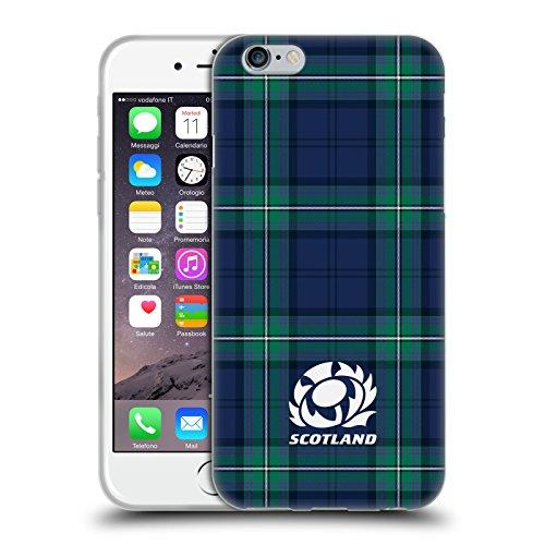 Head Case Designs Licenza Ufficiale Scotland Rugby Scozzese Logo 2 Cover in Morbido Gel Compatibile con Apple iPhone 6 / iPhone 6s