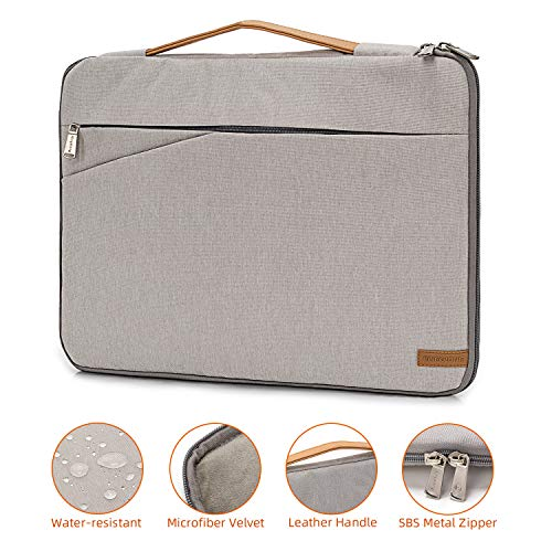 Laptop Sleeve 17.3 inch Laptop Case for Men Women Laptop Bag Commute Briefcase Business Laptop Cover MacBook Pro Notebook Protective Case(Gray)