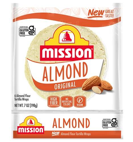 Mission Gluten Free Almond Flour Soft Taco Tortillas,High Fiber, 6 Count - 2 Packs