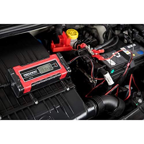 Absaar 158000 Chargeur de Batterie Evo 1.0, 1 A, 6/12 V, Rouge/Noir, 6/12V
