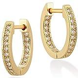 Mevecco Gold Dainty Hoop Cuff Earring for Women 14K Gold Plated Delicate cute Cubic Zirconia Cuff Earrings Huggie Stud …