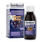 Sambucol Advanced immune black elderberry syrup with vitamin c and zinc, 4 Ounce