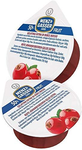 Menz&Gasser Gelatina Extra di Ribes Rosso Monodose Premium Quality, con Frutta di Alta Qualità, 100 Porzioni x 25 g