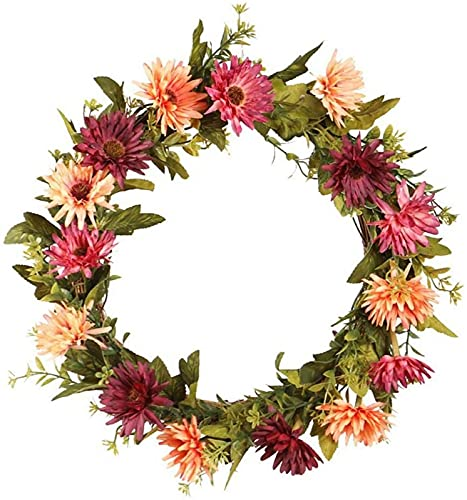 ZJDM Merry Christmas Wreath with Large Red Bow, Red Berries, Poinsettia Star, Ball Ornaments Christmas Wreath for Christmas Party Decoration, 20 Inches (2PCS) B: 2 pieces.