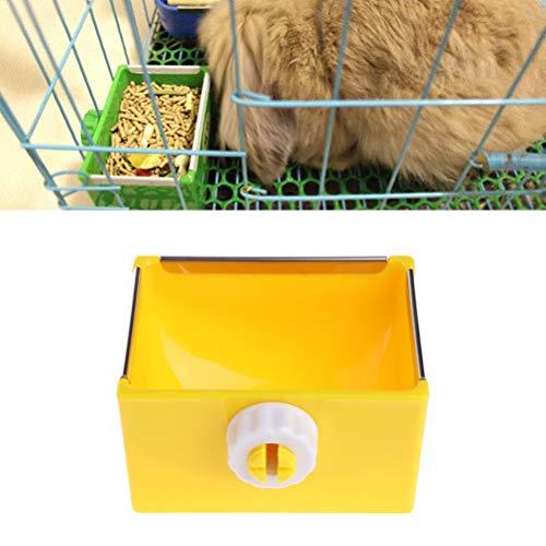 UEETEK 小動物餌入れ えさ入れ うさぎ ハリネズミ ハムスター 食器 固定 取り外し可能 小動物用品 (イェロー)