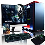 VIBOX Titan 8 Gaming PC Ordenador de sobremesa con Cupón de juego, Win 10, 27' HD Monitor (4,0GHz Intel i7 X 6-Core, Nvidia GeForce GTX 1070 Tarjeta Grafica, 32GB DDR4 RAM, 240GB SSD, 3TB HDD)