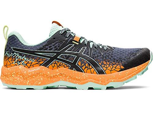 ASICS Fujitrabuco Lyte - Zapatillas de running para mujer, gris (Metrópolis/Orange Pop), 38 EU