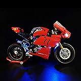 LINANNAN Light Set para Lego Ducati V4R Motorcycle 42107, Kit de iluminación LED Compatible con la Motocicleta Lego Ducati V4R (Modelo Lego no Incluido)