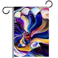 ガーデンサイン庭の装飾屋外バナー垂直旗カラフルなパターン オールシーズンダブルレイヤー