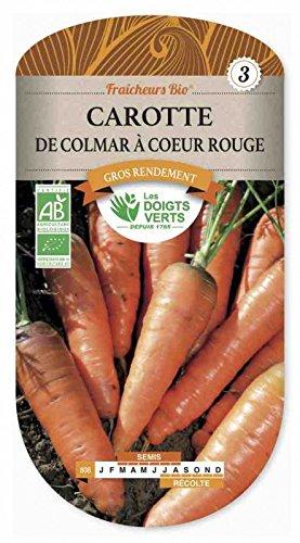 Les doigts verts Semence Carotte de Colmar à Coeur Rouge Fraicheur Bio