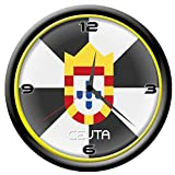 Tipolitografía Ghisleri Reloj Ceuta de Pared con Bandera Diámetro de 28 cm