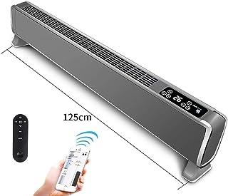 LKK-YSZWJ Inteligente Bajo Consumo Calefactor,Baño Silencioso Convectores 2000W,con Mando A Distancia/termostato/Temporizador, Pantalla LED Táctil,Pared Electricos Radiador (Color : Black 1.25m)