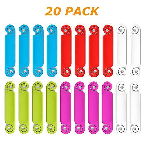 Kabeletiketten mehrfarbig beschriften auf Kabel und Kabelkennzeichnung, 20 Stück