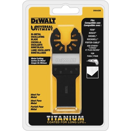 %58 OFF! DEWALT Oscillating Tool Blade, Titanium, Metal Cutting (DWA4209)