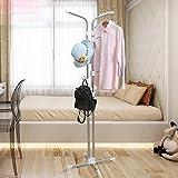 shelf Perchero de pie para pasillo, dormitorio, perchero creativo, de acero inoxidable