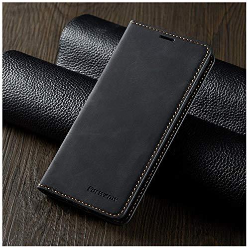 TGBS - Funda de piel con tapa para Samsung S9 S8 S7 Edge S10 S20 Ultra Plus Note 9 10 Lite con imán (color negro, tamaño: para S10)