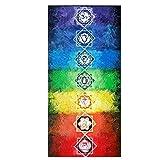 pu ran Rainbow 7Chakra Mandala Bohemian Decke Tapisserie Sommer Strand