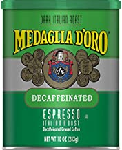 MEDAGLIA D'ORO Italian Roast Decaffeinated Espresso Ground Coffee, 10 Ounces