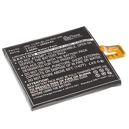cellePhone Akku Li-Polymer kompatibel mit Caterpillar Cat S50 (Ersatz für CUBA-BL-00-S50-000)