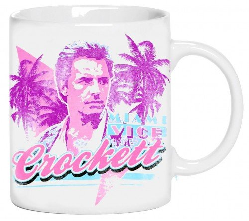 Coole-Fun-T-Shirts Miami VICE - Sonny Crocket ! 80 ER Jahre Kult Kaffetasse Don Johnson Becher Weiss Kaffeetasse