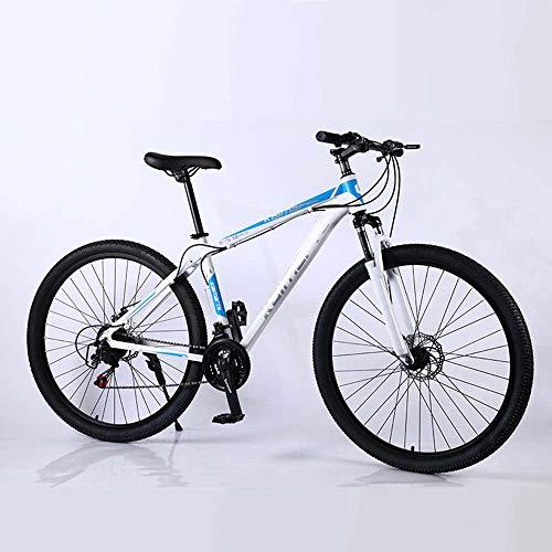 MW Bicicletta, Mountain Bike, Bicicletta della Strada, Hard Tail Bike, 29 Pollici 21/24/27 Speed Bike, Uomini Donne Alluminio Leggero Bicicletta da Corsa,White Orchid,21 Speed
