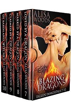 Blazing Dragons Box Set  Books 7-10  Fallen Immortals —Dragon Shifter Paranormal Romance  Fallen Immortals Box Sets Book 3