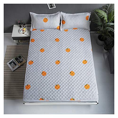 QIANGU Funda de cama ajustable, transpirable, duradera, antideslizante, fácil de quitar de seis lados, todo incluido con cremallera (color : B, tamaño: 120 x 200 + 25 cm)