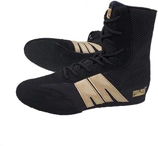Pro Box Adult Boxing Boots - Black/Gold Senior 7UK - 14UK