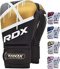 RDX Guantes de Boxeo para Entrenamiento y Muay Thai   Maya Hide Cuero Mitones para Kick Boxing, Sparring   Boxing Gloves para Combate Training, Saco Boxeo