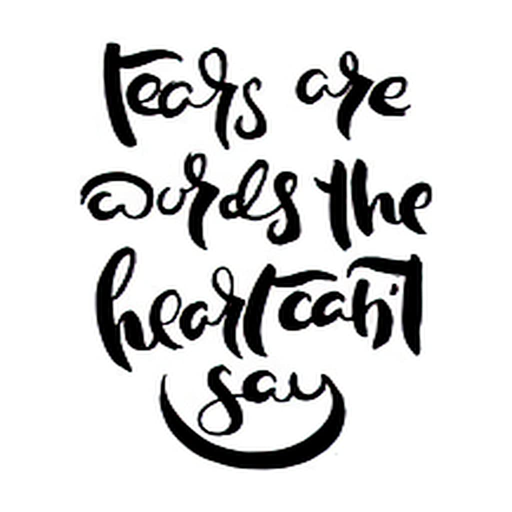 6 Sheets Temporary New item Tattoos Tears Are Beauty products Say the Not Heart Words Gru